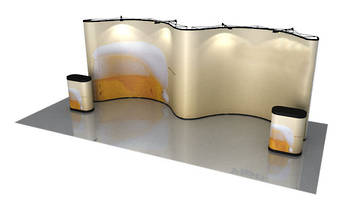 20ft Double Concave Pop-Up Exhibtion Wall