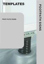 Templates Foot Path Signs