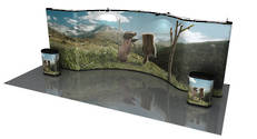 20ft Concave Large Pop-Up Exhibtion Wall