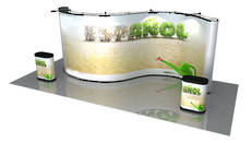 20ft Concave Convex Pop-Up Exhibtion Wall