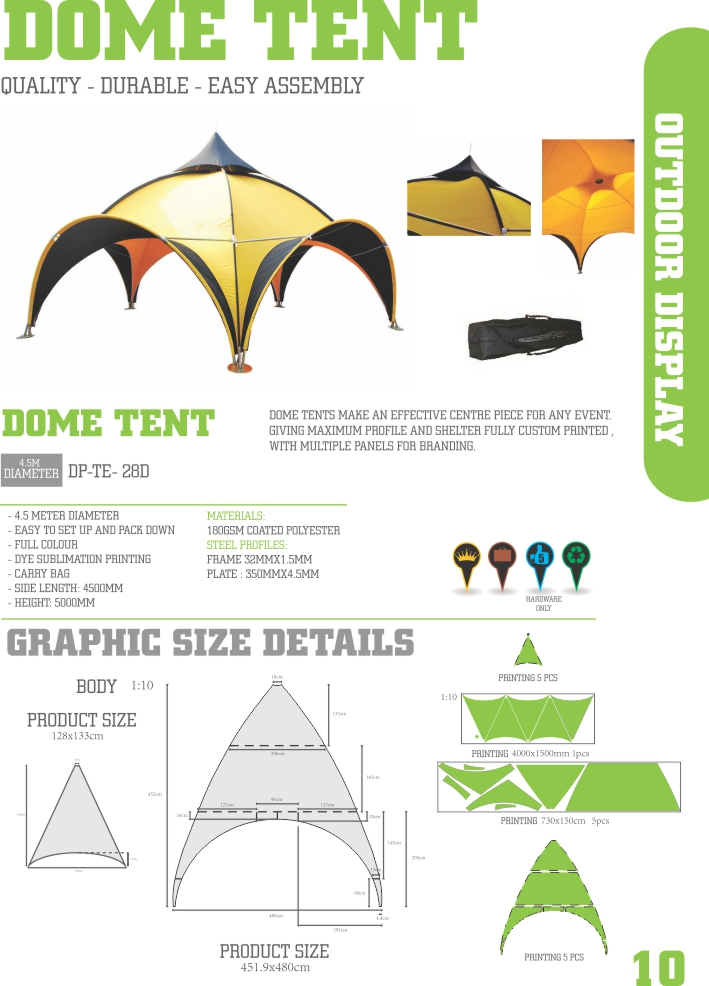 10 Dome tent